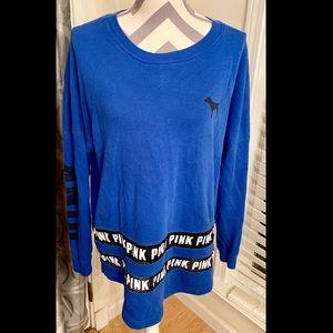 VS Pink blue long sleeve jersey shirt